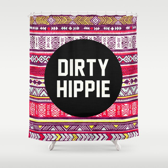 Dirty Hippie Shower Curtain