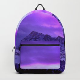 Chugach Mountains in Purple Backpack