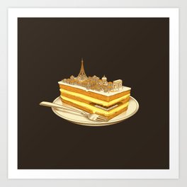 Hungry for Travels: Slice of Paris Art Print