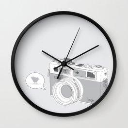 Yashica Camera - blue bird Wall Clock