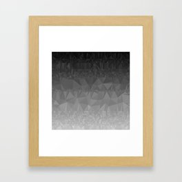Black and Grey Ombre Framed Art Print