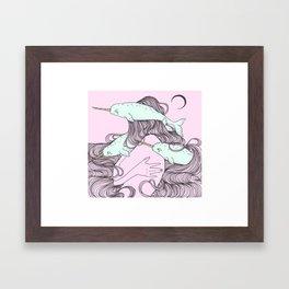 Narwhale Framed Art Print