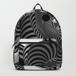 Black and White Abstract Design Backpack
