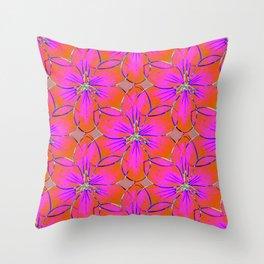 Flower Sketch 4 Throw Pillow