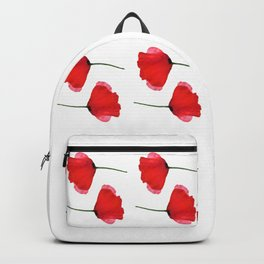 Two red poppies Backpack