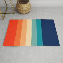 7 Colorful Retro Summer Stripes Bamola Rug