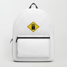 Gravel Road Sign Backpack