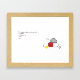 Get Well Soon ! Framed Art Print