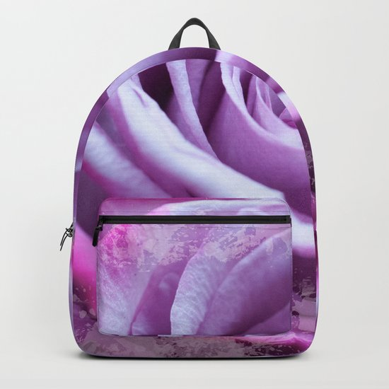 Rose of Love #Pink #Purple #art #society6 Backpack