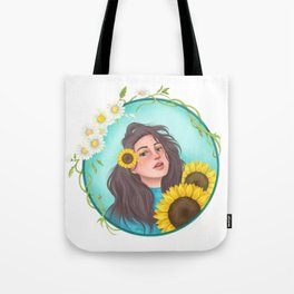 The sunflower & the Daisies Tote Bag