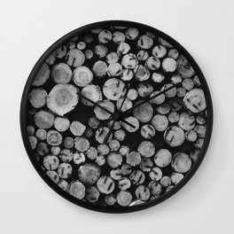 Pile of wood Wall Clock