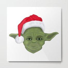 Yoda Christmas Metal Print