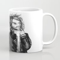 goth Mugs featuring Goth Detectives by Grace Mutton