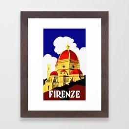 Firenze - Florence Italy Travel Framed Art Print