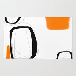 Blocks-Orange Crowd  Rug