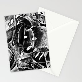Monochrome Abstract Thoughts  Stationery Cards