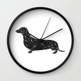 black teckel Wall Clock
