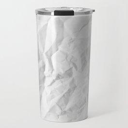 WRINKLED WHITE PAPER SHEET Travel Mug