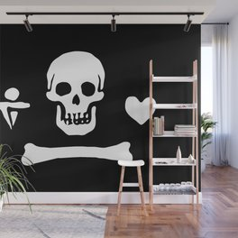 Stede Bonnet Pirate Flag Jolly Roger Wall Mural
