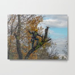 Tree Surgeon Metal Print