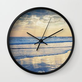 A Message From Above God Rays on Cayucos Beach Wall Clock