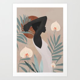 Tropical Girl 4 Art Print