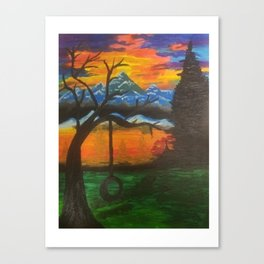 lonely thinking Canvas Print
