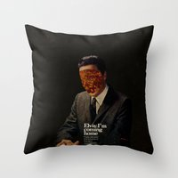 king Throw Pillows featuring King by Frank Moth