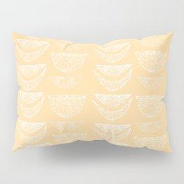 Textured Crescents in Butter Yellow Pillow Sham