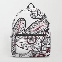 Heart on Heart Multi Doodle Zenart Design Backpack