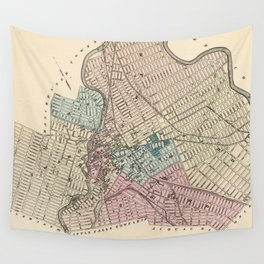 Vintage Map of Paterson New Jersey (1872) Wall Tapestry