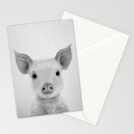 Piglet - Black & White Stationery Cards