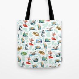 Sea Animal Aqua Party Tote Bag