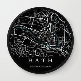 City of Bath Map Wall Clock