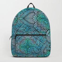Turquoise Flower Mandala Backpack