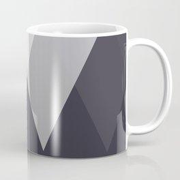 Sawtooth Inverted Blue Grey Coffee Mug