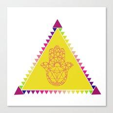 Merkaba Triangle Yellow Canvas Print