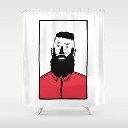 BearD Guy Shower Curtain
