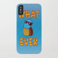puppycat iPhone & iPod Cases featuring Whatever by ohzemesmo