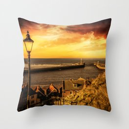 Tourists Rest Throw Pillow