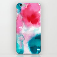 water color iPhone & iPod Skins featuring Water color by moniquilla