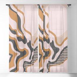 Beautiful Journey - Caramel and Cream Sheer Curtain