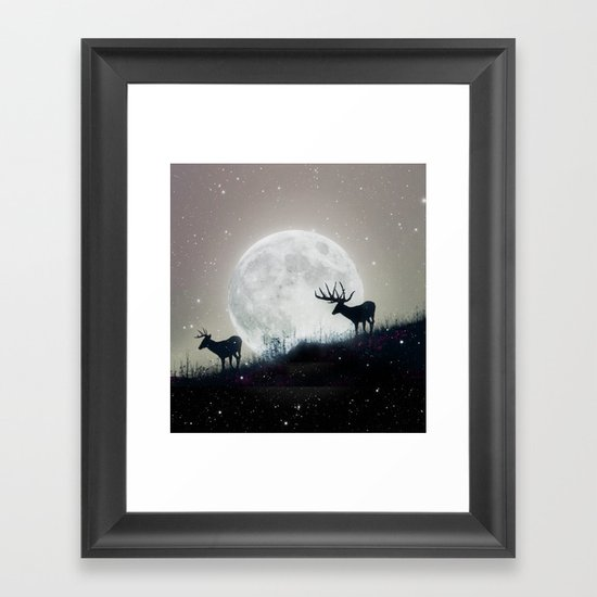 blue moon rising Framed Art Print