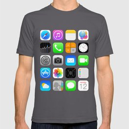 Phone Apps (Flat design) T-shirt