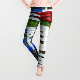 Acadian Lobster Traps Leggings
