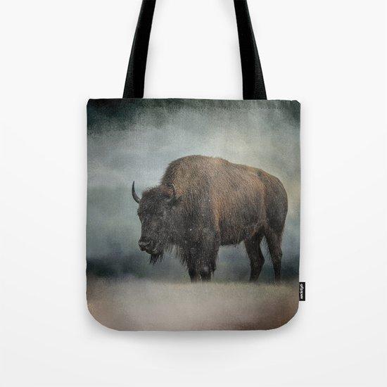 Stormy Day - Buffalo - Wildlife Tote Bag