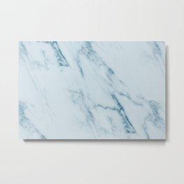 Teal Swirl Marble Metal Print