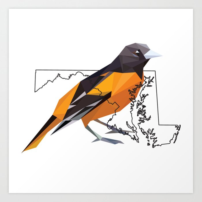 maryland baltimore oriole art print by candice myrtle society6