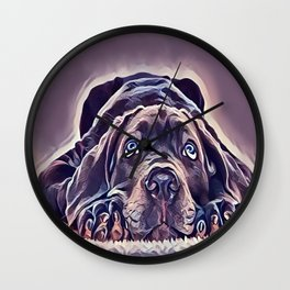 Sad Eyes Wall Clock