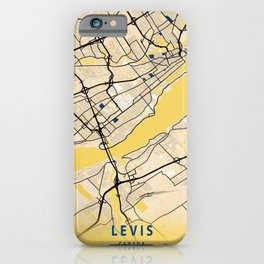Levis Yellow City Map iPhone Case